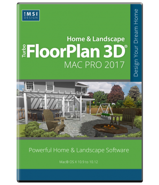 TurboFloorPlan Home & Landscape Pro 2017 Mac