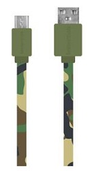 DigiPower 3.3ft Micro USB Flat Charge and Sync Cable (Camo)