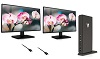 "V7 27"" ADS LED Full HD Monitor Workstation Kit THUMBNAIL"
