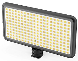 DigiPower Pro Event 180 LEDs On-Camera Video Light with Diffuser for Smartphones & Digital Cameras LARGE