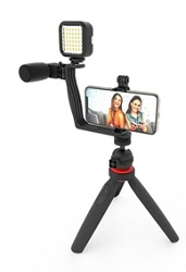 DigiPower Superstar Vlogging Video Blogging Kit with Wireless Remote LARGE