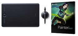 Wacom Intuos Pro Tablet with Pro Pen 2 & Corel Painter 2017 (Medium)