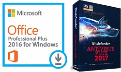 Microsoft Office 2016 with AntiVirus for Windows (WAH Download)
