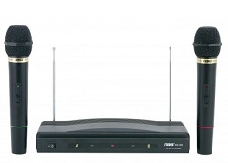 NAXA Professional Dual Wireless Microphone Kit LARGE