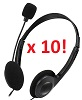 Adesso Xtream H4 Stereo Headphone/Headset with Microphone (Classroom 10-Pack) THUMBNAIL