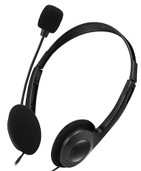 Adesso Xtream H4 Stereo Headphone/Headset with Microphone (On Sale!) LARGE