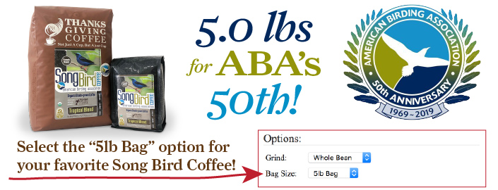 5 pounds for ABA's 50th Anniversary