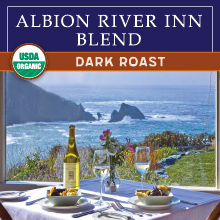 Thanksgiving Coffee Albion River Inn Blend - dark roast, organic THUMBNAIL