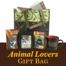 Thanksgiving Coffee Animal Lover's Gift Set - three Cause Coffees and coffee mug THUMBNAIL