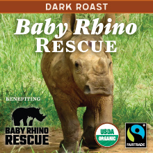 Thanksgiving Coffee Baby Rhino Rescue - Vienna dark roast, organic blend THUMBNAIL