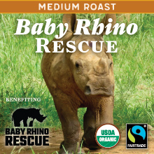 Thanksgiving Coffee Baby Rhino Rescue - medium roast, organic blend THUMBNAIL