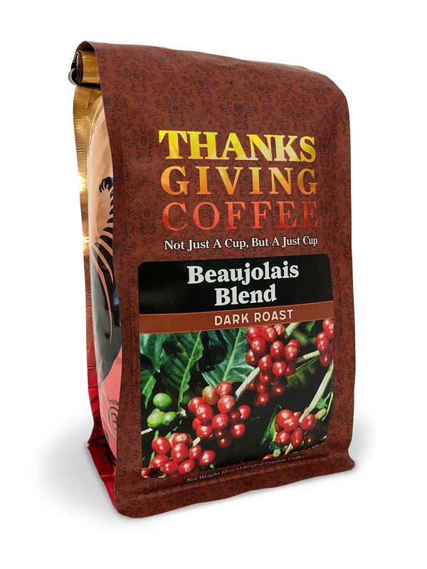 Thanksgiving Coffee Beaujolais Blend - Sumatra dark roast MAIN