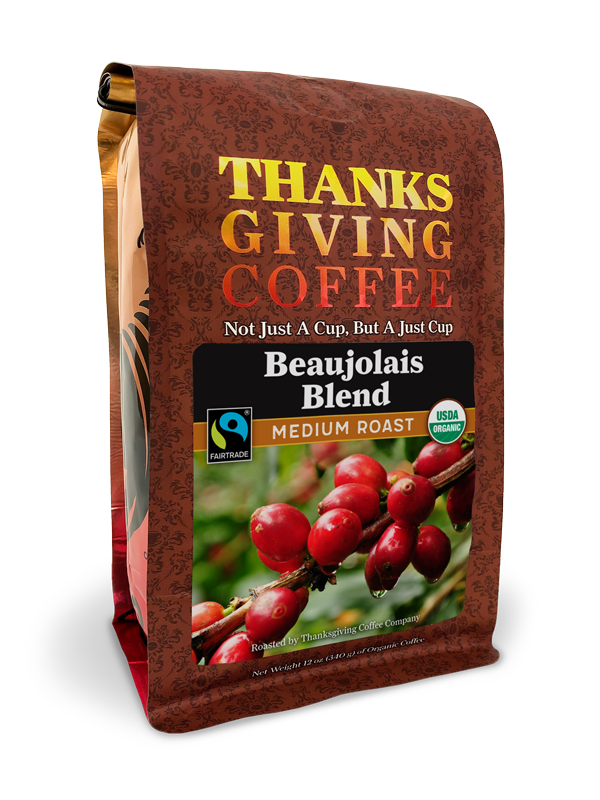Thanksgiving Coffee Beaujolais Blend - medium roast, Fair Trade, organic MAIN