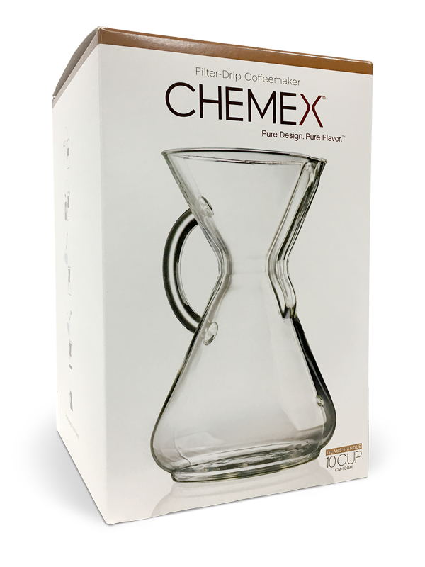 Chemex 10 Cup Pour-Over Coffee Maker with Handle MAIN