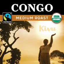 Thanksgiving Congo Coffee - medium roast, Fair Trade, organic, single origin THUMBNAIL