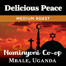 Thanksgiving Coffee Delicious Peace Medium Roast - single origin Ugandan coffee THUMBNAIL
