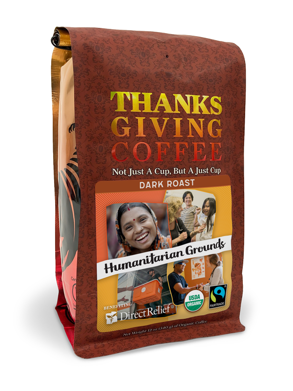 Direct Relief Humanitarian Grounds - Dark roast, Fair Trade, Organic blend benefitting Direct Relief MAIN