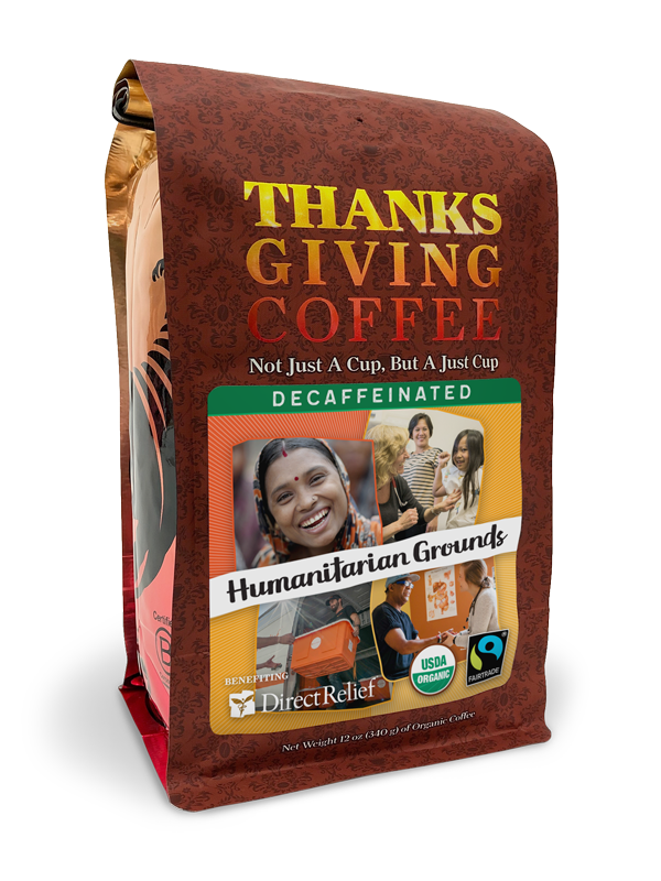Direct Relief Humanitarian Grounds - Decaf, Fair Trade, Organic blend benefitting Direct Relief MAIN