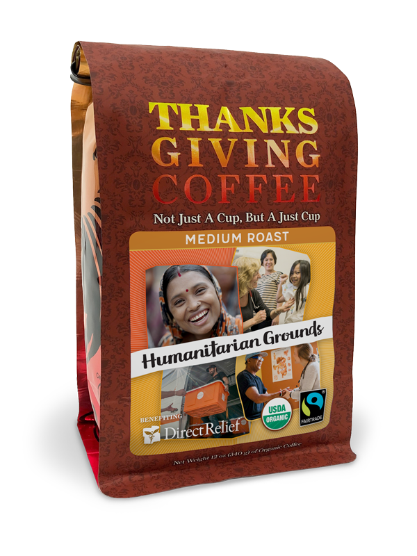 Direct Relief Humanitarian Grounds - Medium roast, Fair Trade, Organic blend benefitting Direct Relief MAIN