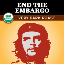 Thanksgiving Coffee End the Embargo Very Dark Roast - Fair Trade, organic THUMBNAIL