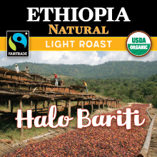 Thanksgiving Coffee Ethiopia Natural - light roast, Fair Trade, organic, single origin THUMBNAIL