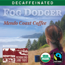 Thanksgiving Coffee Fog Dodger Decaf - water processed, Fair Trade, organic blend THUMBNAIL