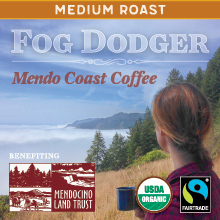 Thanksgiving Coffee Fog Dodger - medium roast, Fair Trade, organic blend THUMBNAIL