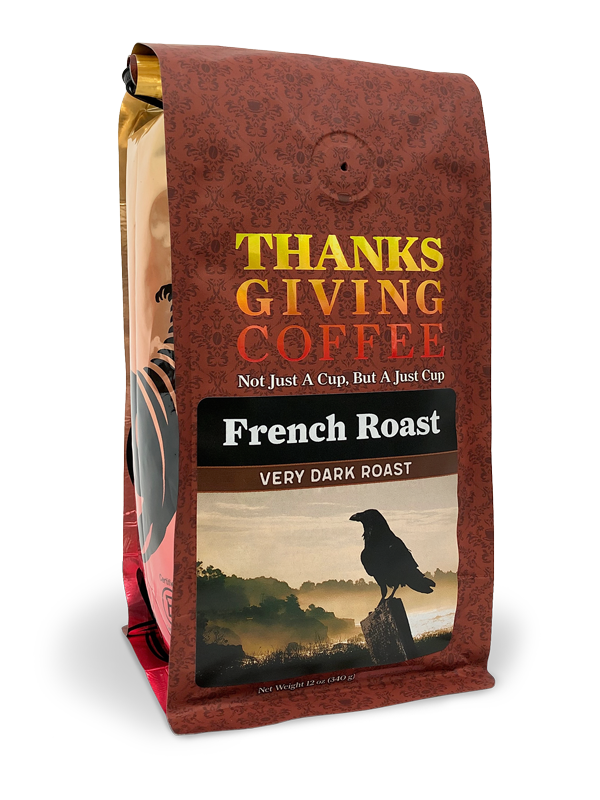 Thanksgiving Coffee French Roast - very dark roast coffee blend MAIN