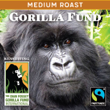 Thanksgiving Gorilla Fund - Rwandan medium roast, Fair Trade THUMBNAIL