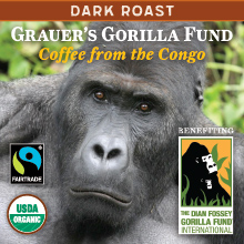 Thanksgiving Congo Coffee - light roast, Fair Trade, organic THUMBNAIL