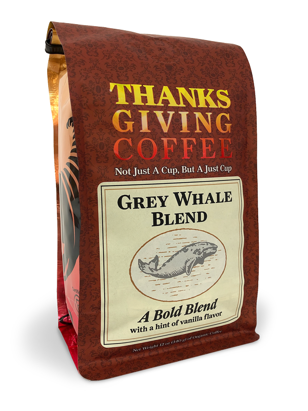 Thanksgiving Coffee Grey Whale Blend - medium roast, vanilla flavored coffee MAIN
