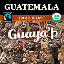 Thanksgiving Coffee Guatemalan Dark Roast - Fair Trade, organic, single origin, sustainable THUMBNAIL