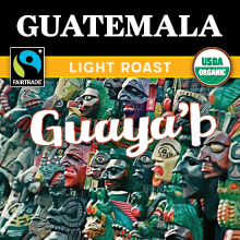 Thanksgiving Coffee Guatemalan Light Roast - Fair Trade, organic, single origin, sustainable THUMBNAIL