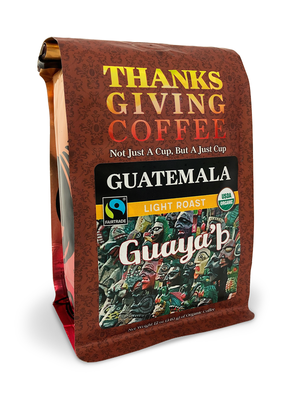 Thanksgiving Coffee Guatemalan Light Roast - Fair Trade, organic, single origin, sustainable MAIN