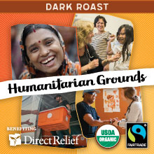 Direct Relief Humanitarian Grounds - Dark roast, Fair Trade, Organic blend benefitting Direct Relief THUMBNAIL