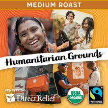 Direct Relief Humanitarian Grounds - Medium roast, Fair Trade, Organic blend benefitting Direct Relief THUMBNAIL
