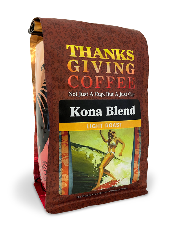 Thanksgiving Coffee Kona Blend - light roast MAIN