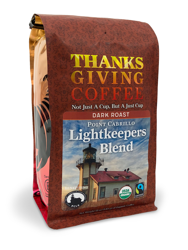 Thanksgiving Coffee Lightkeepers Blend Dark Roast - Fair Trade, organic MAIN