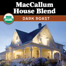 Thanksgiving Coffee MacCallum House Blend - dark roast, organic coffee beans from Nicaragua THUMBNAIL