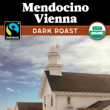 Thanksgiving Coffee Mendocino Vienna - dark roast, Fair Trade, organic THUMBNAIL