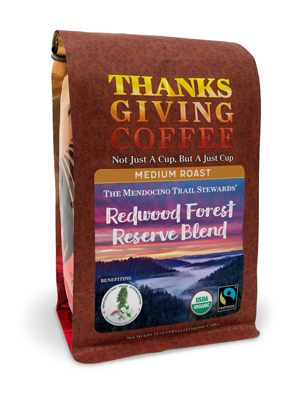 Redwood Forest Reserve Blend - medium roast, Fair Trade, organic blend MAIN