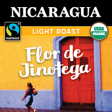 Thanksgiving Coffee Nicaragua Light Roast - Fair Trade, organic, single origin THUMBNAIL