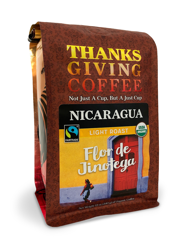Thanksgiving Coffee Nicaragua Light Roast - Fair Trade, organic, single origin MAIN