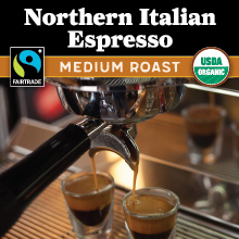 Thanksgiving Coffee Northern Italian Style Espresso - medium roast, Fair Trade, organic THUMBNAIL