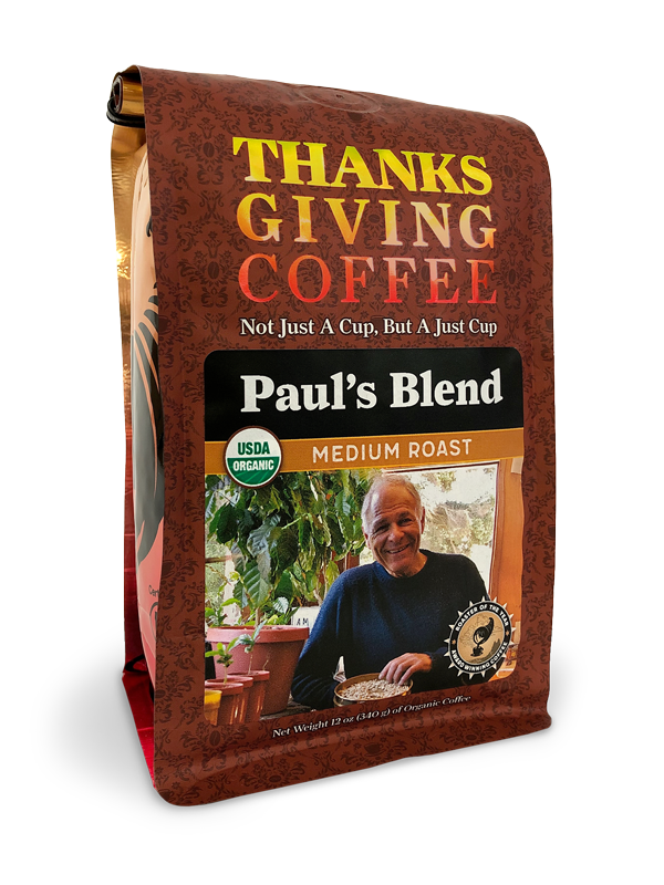 Thanksgiving Coffee Paul's Blend - medium roast, organic MAIN
