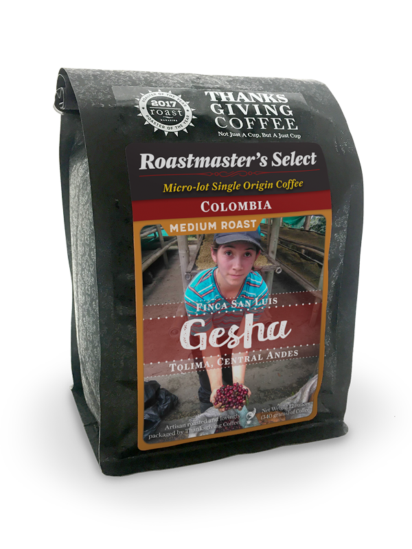 Thanksgiving Coffee Colombia, Gesha - medium roast, micro-lot, single origin MAIN