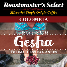 Thanksgiving Coffee Colombia, Gesha - medium roast, micro-lot, single origin THUMBNAIL