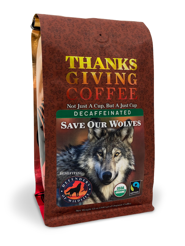 Thanksgiving Coffee Save Our Wolves Decaf - organic, Fair Trade blend MAIN