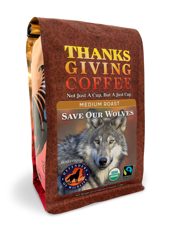 Thanksgiving Coffee Save Our Wolves Medium Roast - organic, Fair Trade blend MAIN