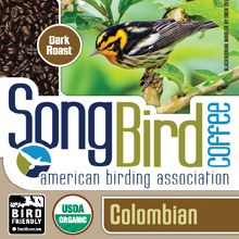 Thanksgiving Coffee Songbird Colombian - bird friendly, dark roast, organic, shade grown THUMBNAIL